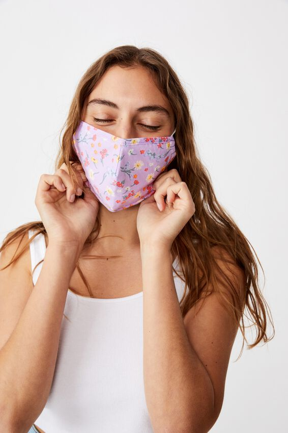 Foundation Face Mask Adults, LILAC DITSY