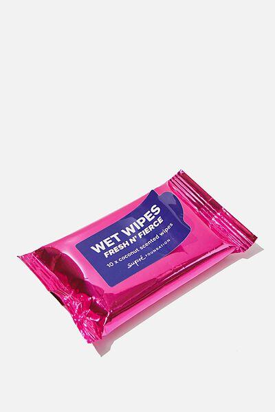 Supre Foundation Wet Wipes, METALLIC PINK
