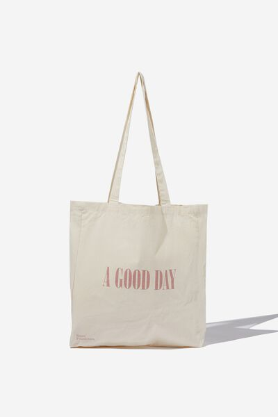 Foundation Supre Organic Tote Bag, A GOOD DAY