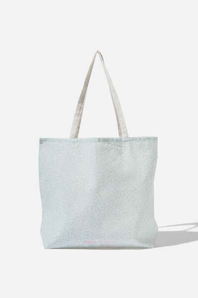 Supre Foundation Tote Bag, BLUE LEOPARD