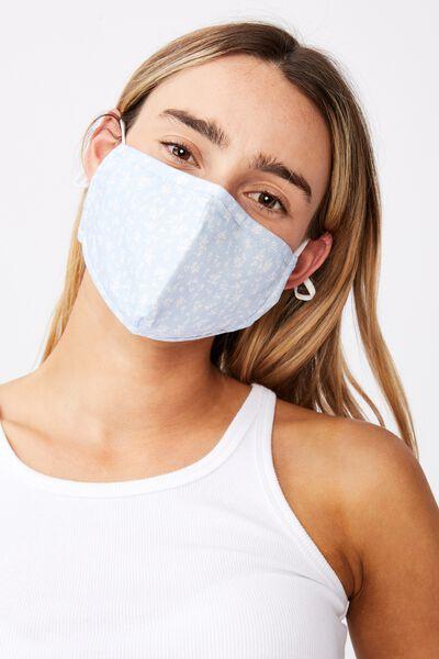 Supre Foundation Face Mask, JENNY BLUE PETAL