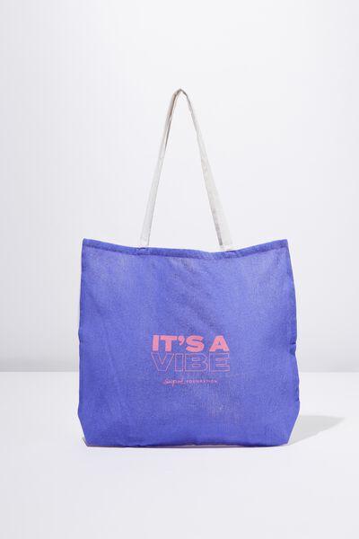 Supre Foundation Tote Bag, VIBE