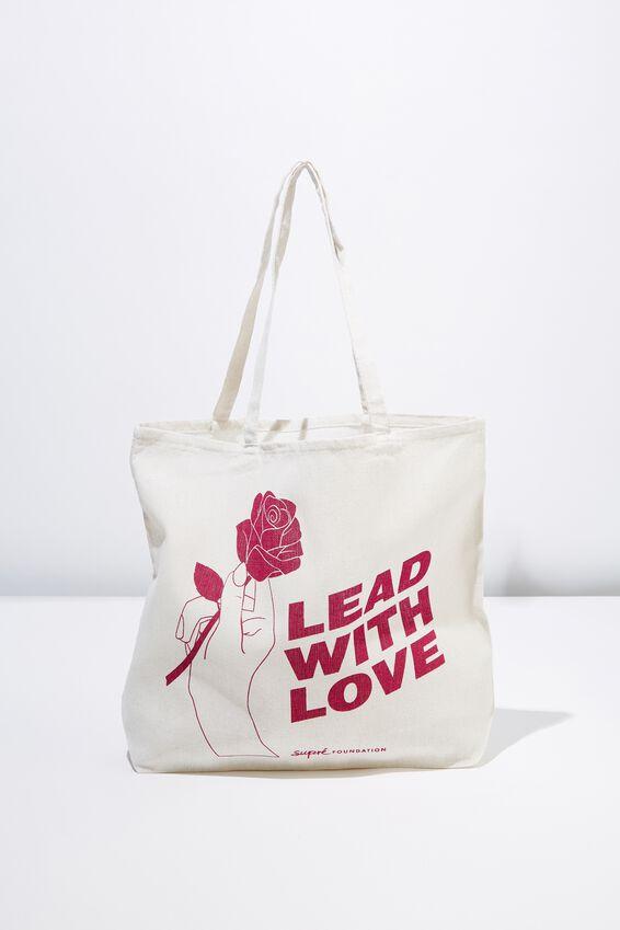 Supre Foundation Tote Bag, LEAD