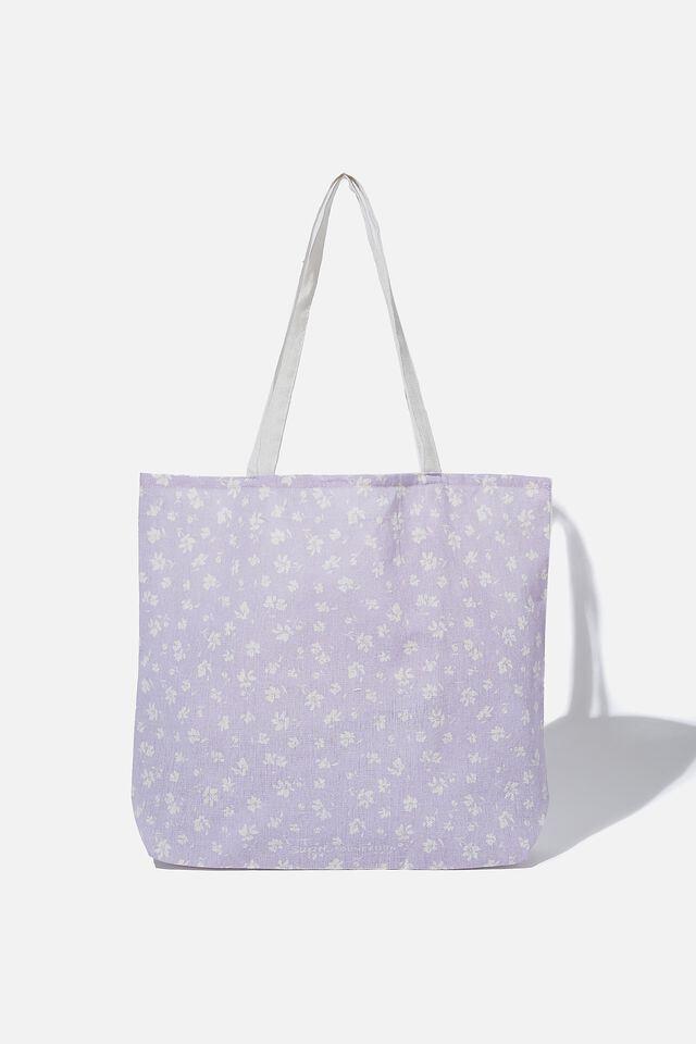 Supre Foundation Tote Bag, LILAC DITSY