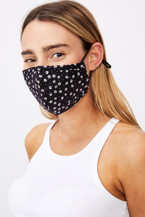 Supre Foundation Face Mask, ANNA FLORAL BLACK