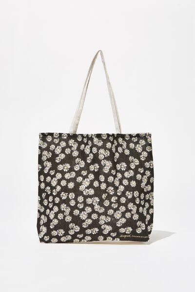 Supre Foundation Tote Bag, WHITE DAISIES