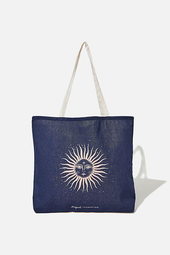 Foundation Supre Tote Bag, ZODIAC SUN