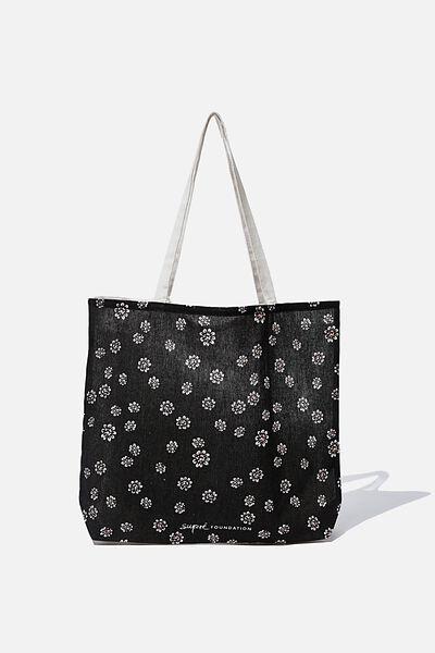 Supre Foundation Tote Bag, SOFT DITSY