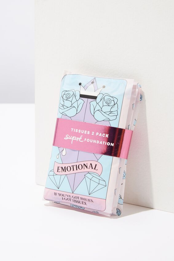 Supre Foundation Double Pack Tissues, EMOTIONAL