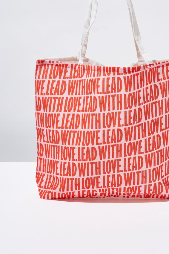 Supre Foundation Tote Bag, LEAD WITH LOVE