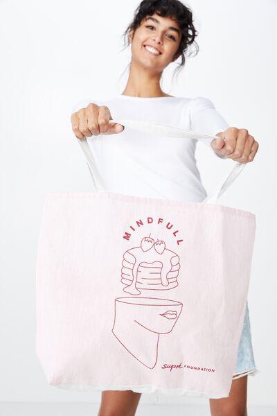 Supre Foundation Tote Bag, MINDFUL
