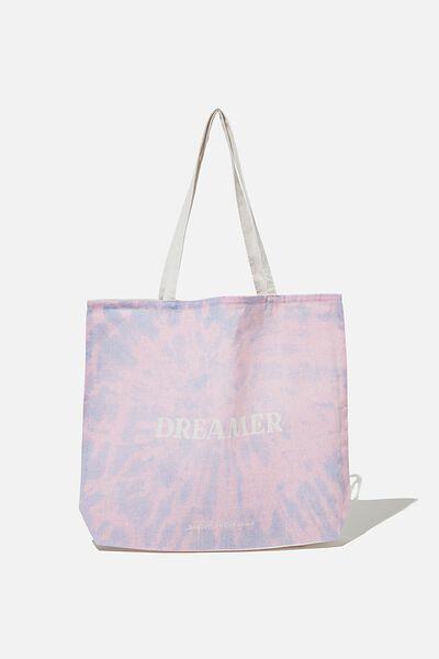 Supre Foundation Tote Bag, DREAMER TIE DYE