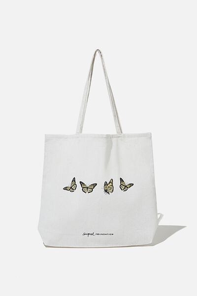 Supre Foundation Tote Bag, BUTTERFLIES