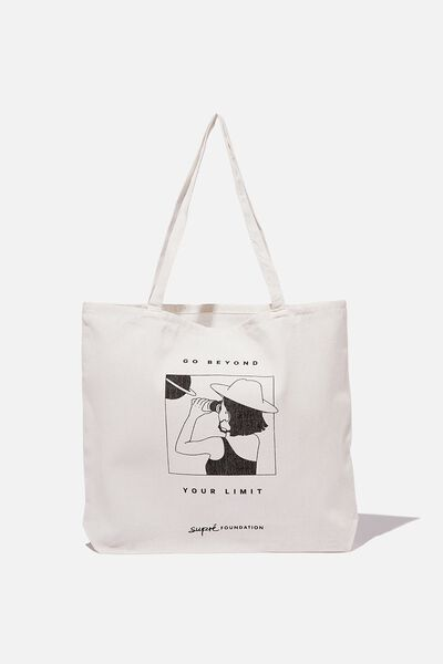 Supre Foundation Tote Bag, BEYOND YOUR LIMIT