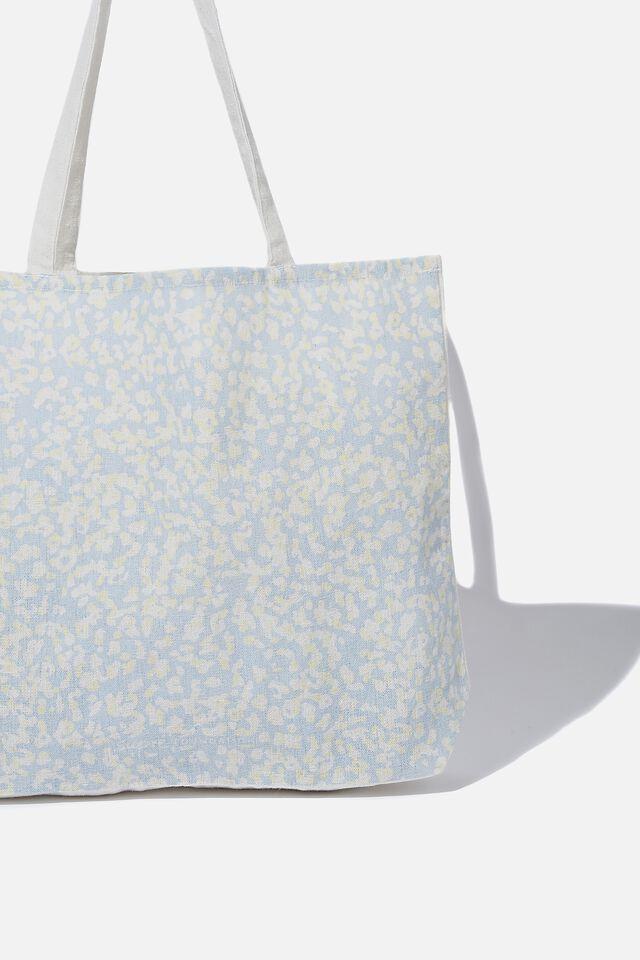 Supre Foundation Tote Bag, QUINN MISTY BLUE