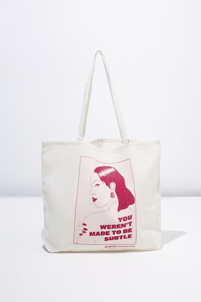 Supre Foundation Tote Bag, SUBTLE