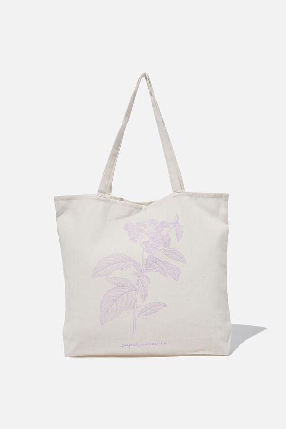 Supre Foundation Tote Bag, LILAC FLOWER