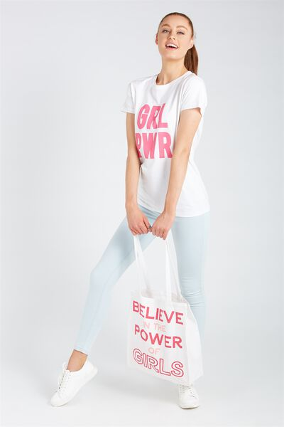 Foundation Tote Bag, BELIEVE IN THE POWER OF GIRLS