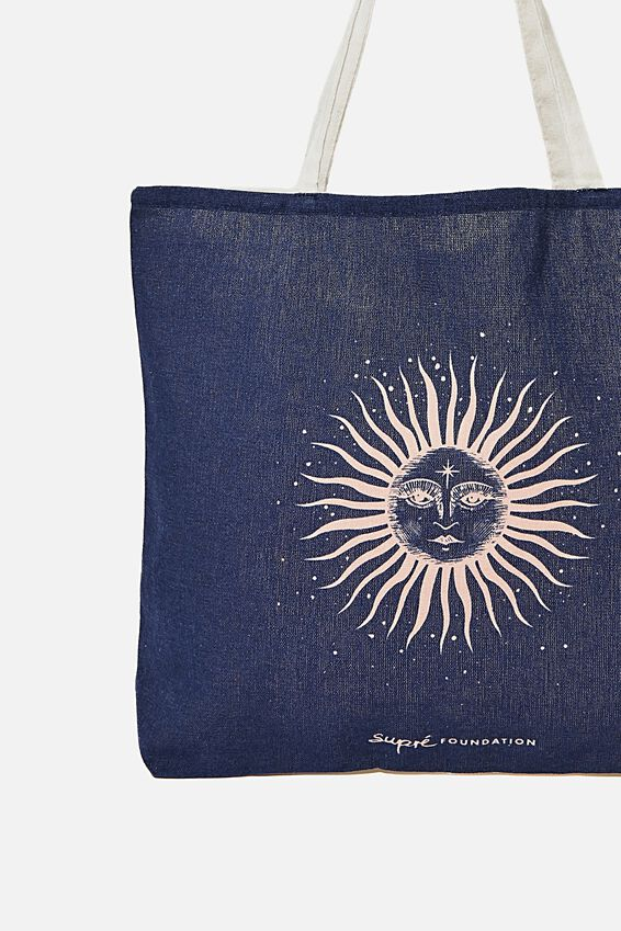Supre Foundation Tote Bag, ZODIAC SUN