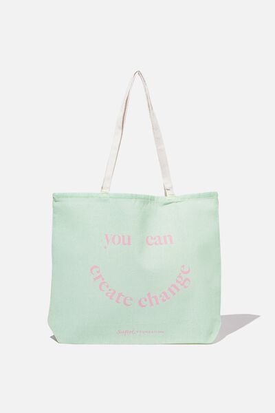 Supre Foundation Tote Bag, YOU CAN CREATE CHANGE
