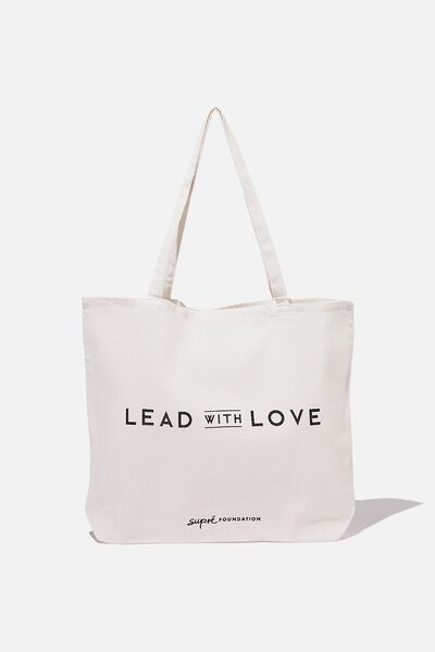 Supre Foundation Tote Bag, LEAD WITH LOVE 2