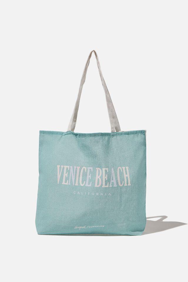 Supre Foundation Tote Bag, PASTEL VENICE BEACH
