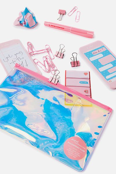 Foundation Stationery Pack, PINK/HOLOGRAPHIC
