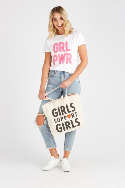 Foundation Tote Bag, GIRLS SUPPORT GIRLS