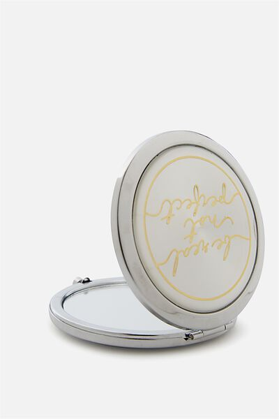 Foundation Compact Mirror, SILVER