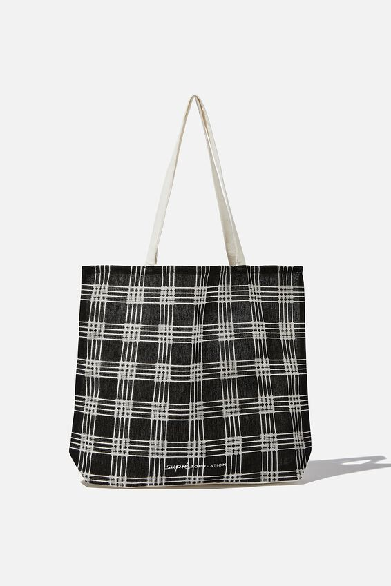 Supre Foundation Tote Bag, 90 S TARTAN