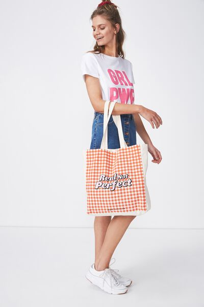 Supre Foundation Tote Bag, REAL NOT PERFECT