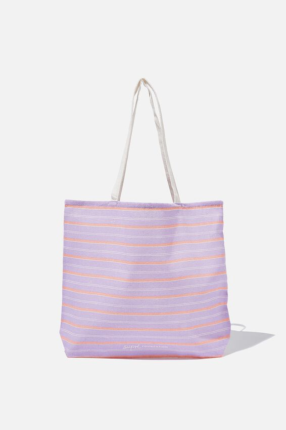 Supre Foundation Tote Bag, LILAC STRIPE