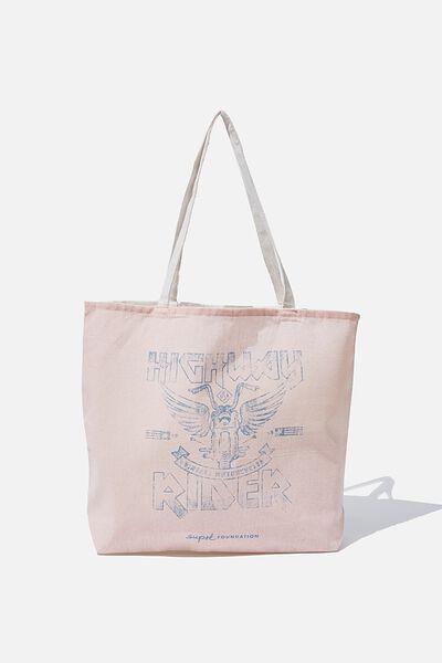 Supre Foundation Tote Bag, HIGHWAY RIDER
