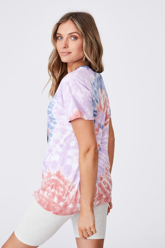 Kendall Printed T Shirt, CIRCLE TIE DYE/LCN MT BIGGIE SMALLS