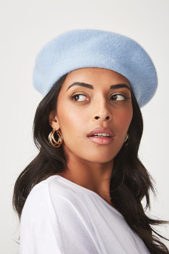 Tessa Beret Hat, BABY BLUE