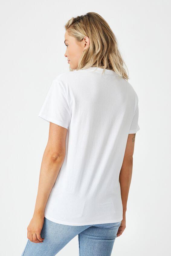 Kendall Printed T Shirt, WHITE/LCN WB FRIENDS BRUNCH