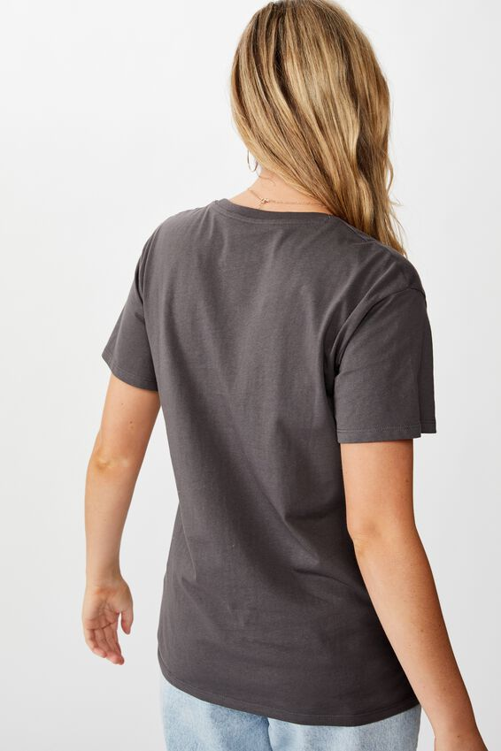 Lola Printed Longline Tee, GRANITE GREY/ATLANTA CITY