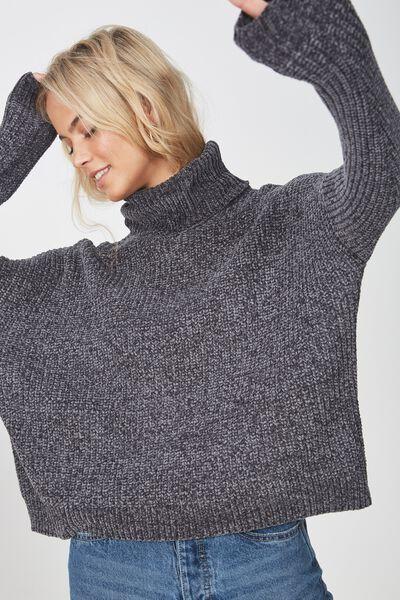 Tully L/S Chunky Knit, GRANITE GREY
