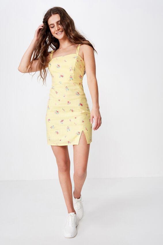 Bianca Wide Strap Cami Dress, SUNSHINE MULTI FLORAL