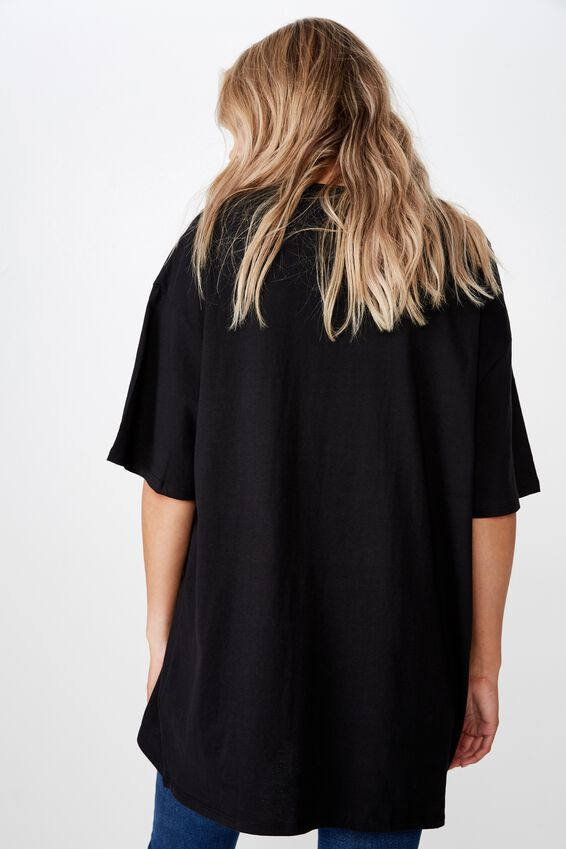 Oversized Graphic Tee, BLACK/NEW YORK