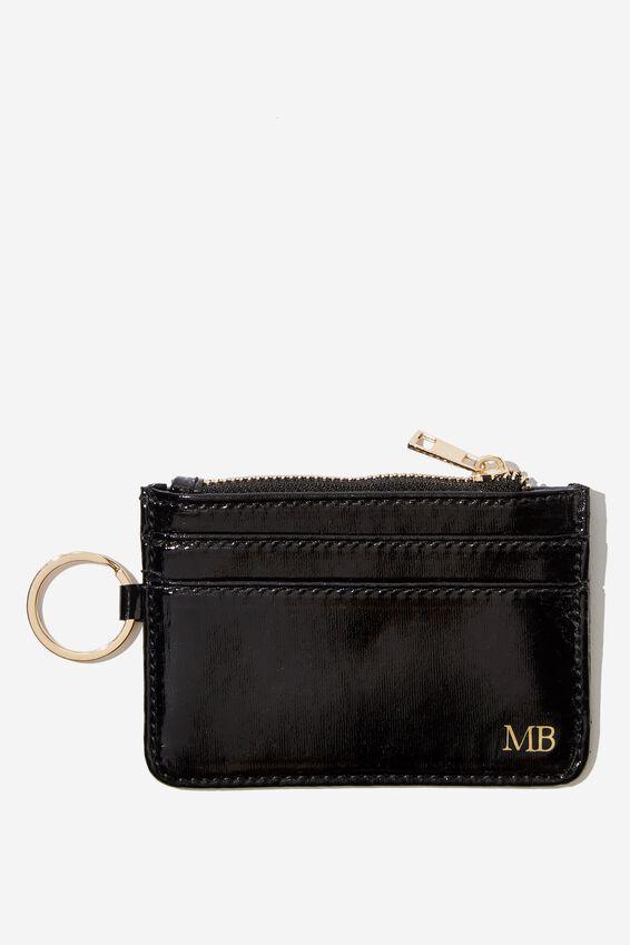 Personalised Harper Mini Purse, BLACK PATENT