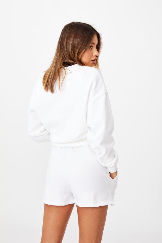 Hayley Sweat Short, WHITE