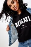 Katy Slouch Sweat, BLACK/MIAMI