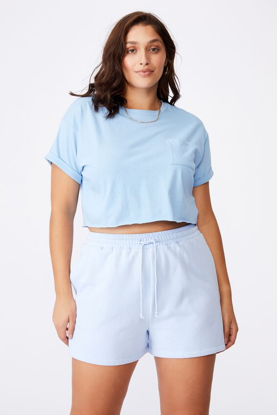 Ciara Crop T-Shirt, CAPRI BLUE