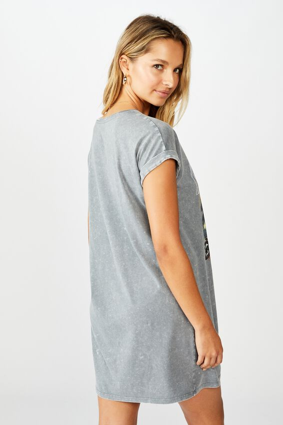 Izzy Tee Dress, DARK GREY/WISCONSIN RIDER