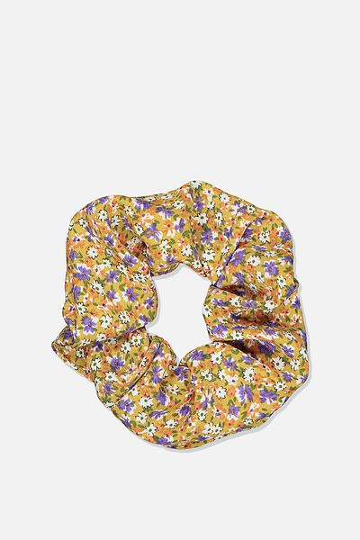 Ditsy Floral Cluster Scrunchie, DITSY CLUSTER MUSTARD
