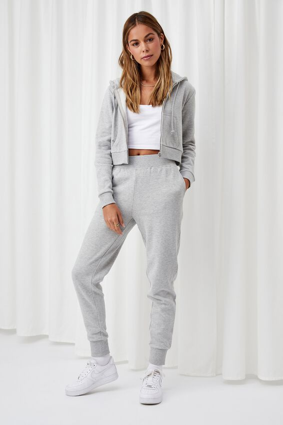 Elizabeth Zip Through Hoodie, GREY MARLE
