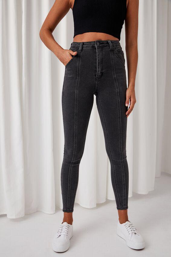 Skinny Premium Jean, SMOKEY BLACK PANEL