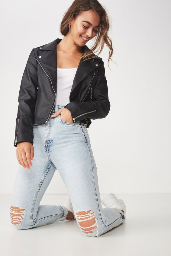 Easy Rider Moto Jacket, BLACK