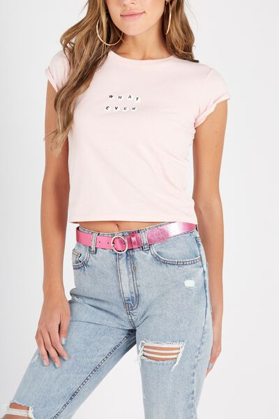 Mini Circle Belt, BRIGHT PINK